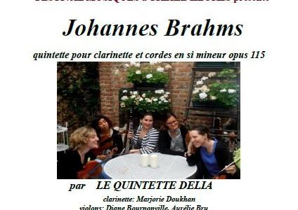 Concert du Quintette Délia le jeudi 16 juin de 13 à 13h45