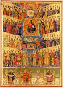 Fête de tous les Saints - Icône d'Aghiou Pavlou - XIXème siècle